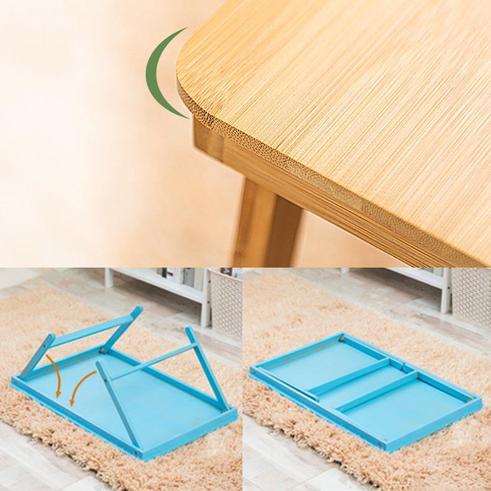 Folding Laptop Desk Small Desk Used in Bed Dorm Lazy Simple Desk Study Desk (Color : Black) by LongYu