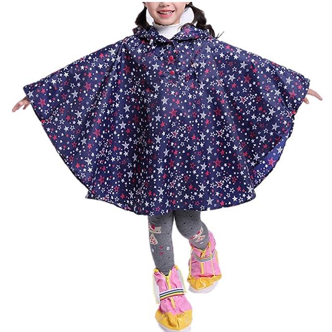 Abrigos Impermeable para Niños Lluvia Capa Manto Tipo Ropa Colorido Lindo PatrÓN Impreso Poncho Niñas Estudiante Gabardinas: Amazon.es: Ropa y accesorios