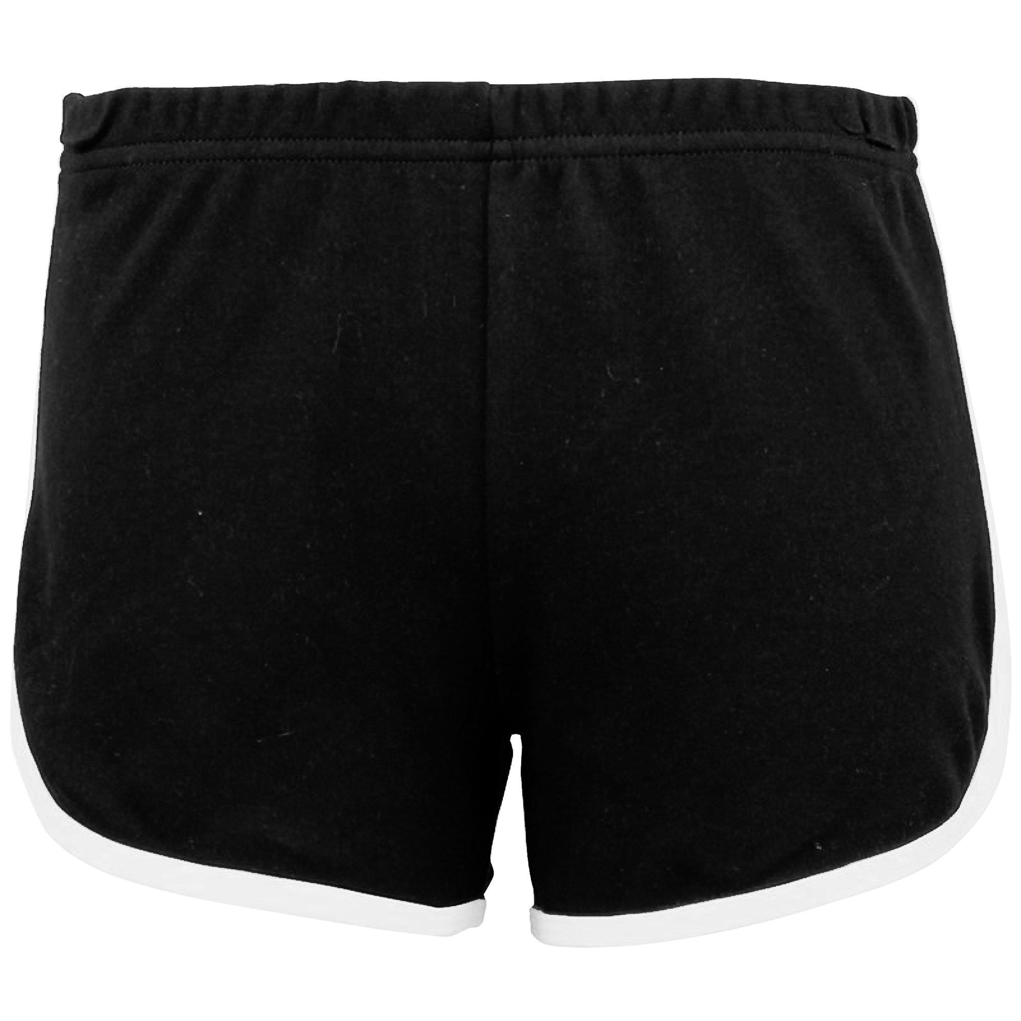 American Apparel Womens/Ladies Cotton Casual/Sports Shorts (M) (Black / White)