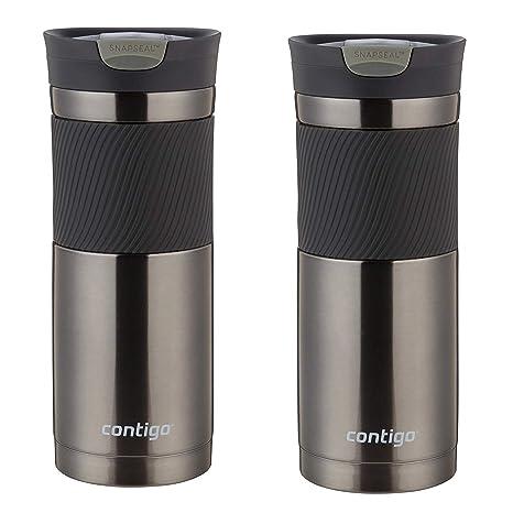 94e8cb3259f Contigo 20oz SnapSeal Byron Travel Mug, Gunmetal - Leak Proof Coffee Mug -  Vacuum Insulated - Maintains the Temperature of All Drinks, Hot or Cold -  ...