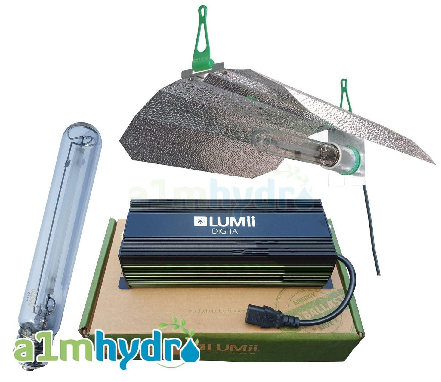 Lumii Digita Digitale Leuchte, 600 W Licht für Hydrokultur, Komplett-Kit