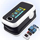 Pulse oximeter fingertip with Plethysmograph and Perfusion Index, Portable Blood Oxygen Saturation Monitor for Heart…