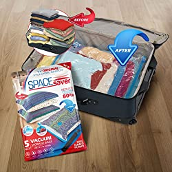 Spacesaver Premium Vacuum Storage Bags for travel