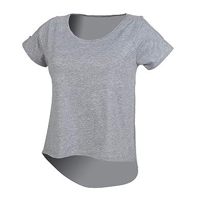 6820a868fe3ae4 SF Damen T-Shirt, Kurzarm, hinten länger: Amazon.de: Bekleidung
