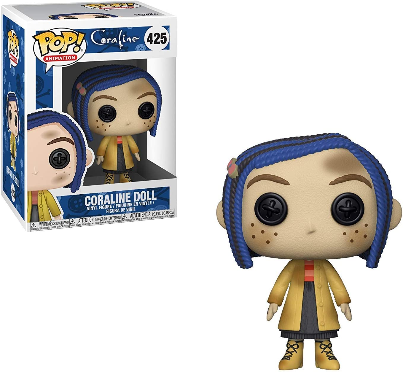 Amazon Com Funko Pop Movies Coraline With Cat Carolinr In Raincoat The Other Mother Mr Bobinsky With Mouse Coraline Doll Vinyl Figures Set Toys Games
