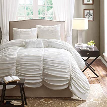 1738f72c0fe73 Amazon.com  Daybed Twin White Cotton 3 Piece Comforter Set