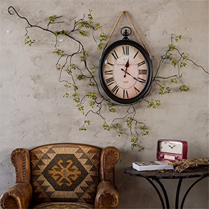 Amazon.com: Retro Nostalgic Clock Clock Wall Clock 20