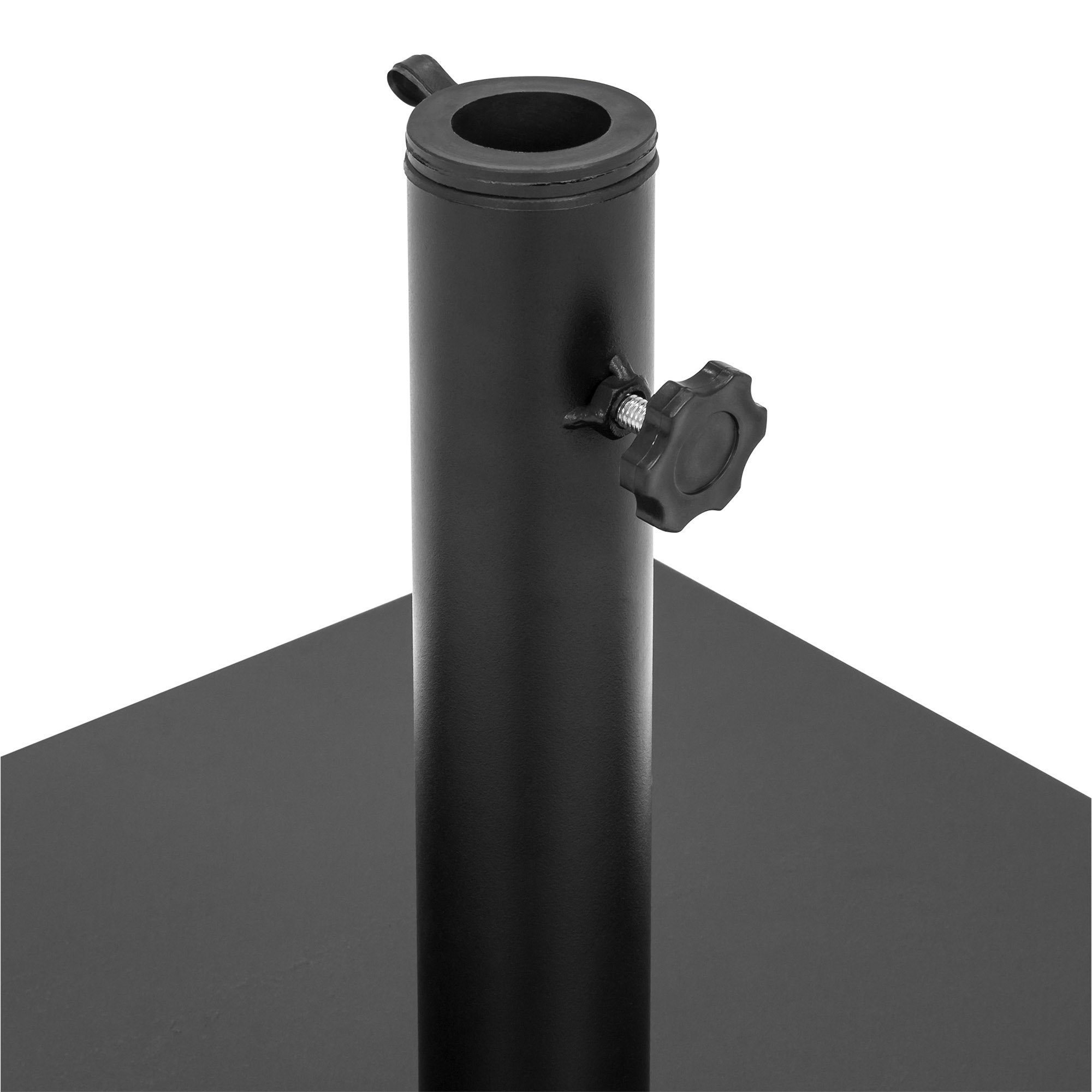 Best Choice Products 38.5lb Steel Square Patio Umbrella Base Stand w/Tightening Knob and Anchor Holes - Black by Best Choice Products (Image #3)
