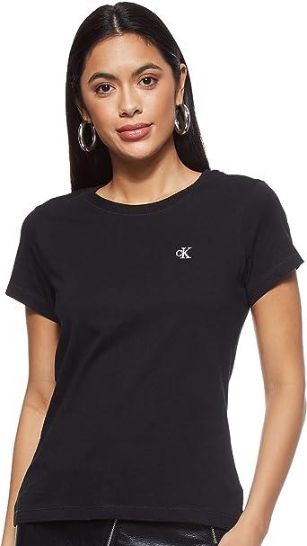 Calvin Klein CK Embroidery Slim tee Camisa para Mujer: Amazon.es: Ropa y accesorios