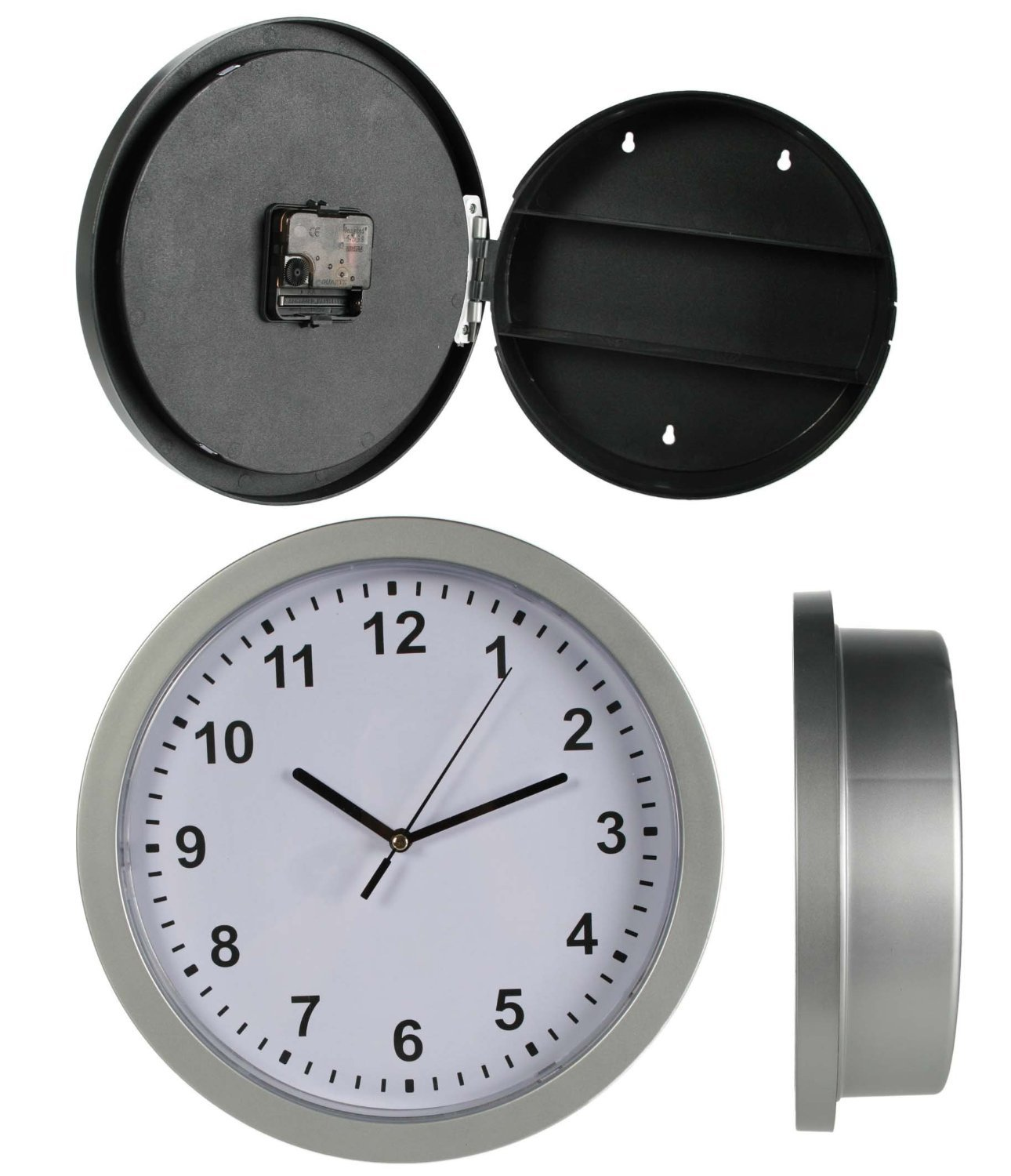 Wall clock with hidden safe amazon kitchen home amipublicfo Images