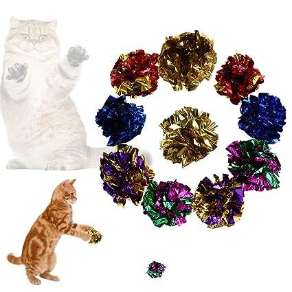Everpert Juego de 12 bolas de papel para gato y gato: Amazon ...