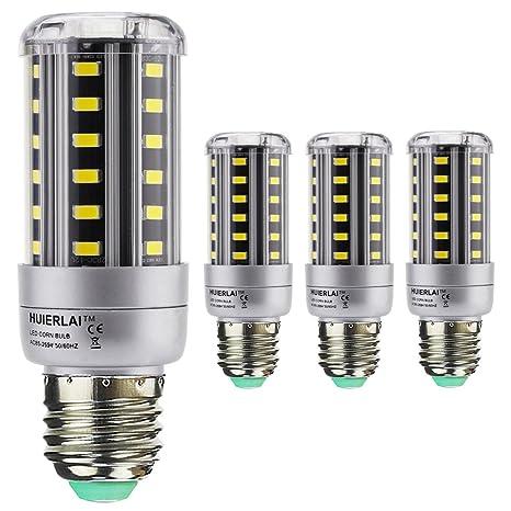 4x E27 9W Bombilla LED Lámpara Luz de Maíz La luz blanca 6000K Ángulo de Haz ...