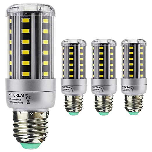 4x E27 9W Bombilla LED Lámpara Luz de Maíz La luz blanca 6000K ...