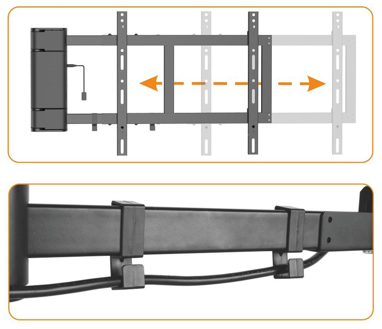 ricoo motorisierte tv wandhalterung schwenkbar se2544 amazonde elektronik - Motorisierte Tvhalterung