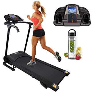 POPSPARK Folding Treadmill,Running Jogging Walking Machine for Fitness Workout and Home Exercise,145x54x110cm