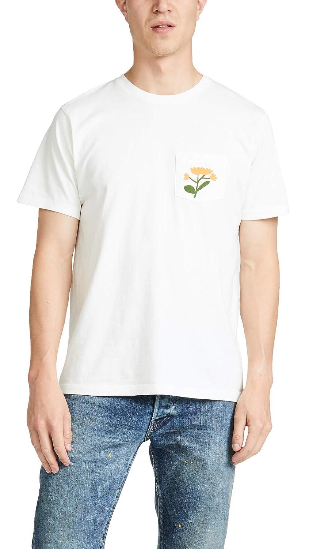 Mollusk Mens Short Sleeve Soft Harvest Print Pocket Tee