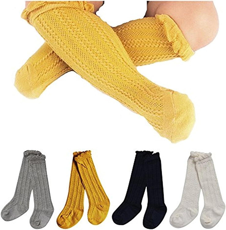 Toptim Little Girls Stockings Knee High Long Socks for Todders and Childrens