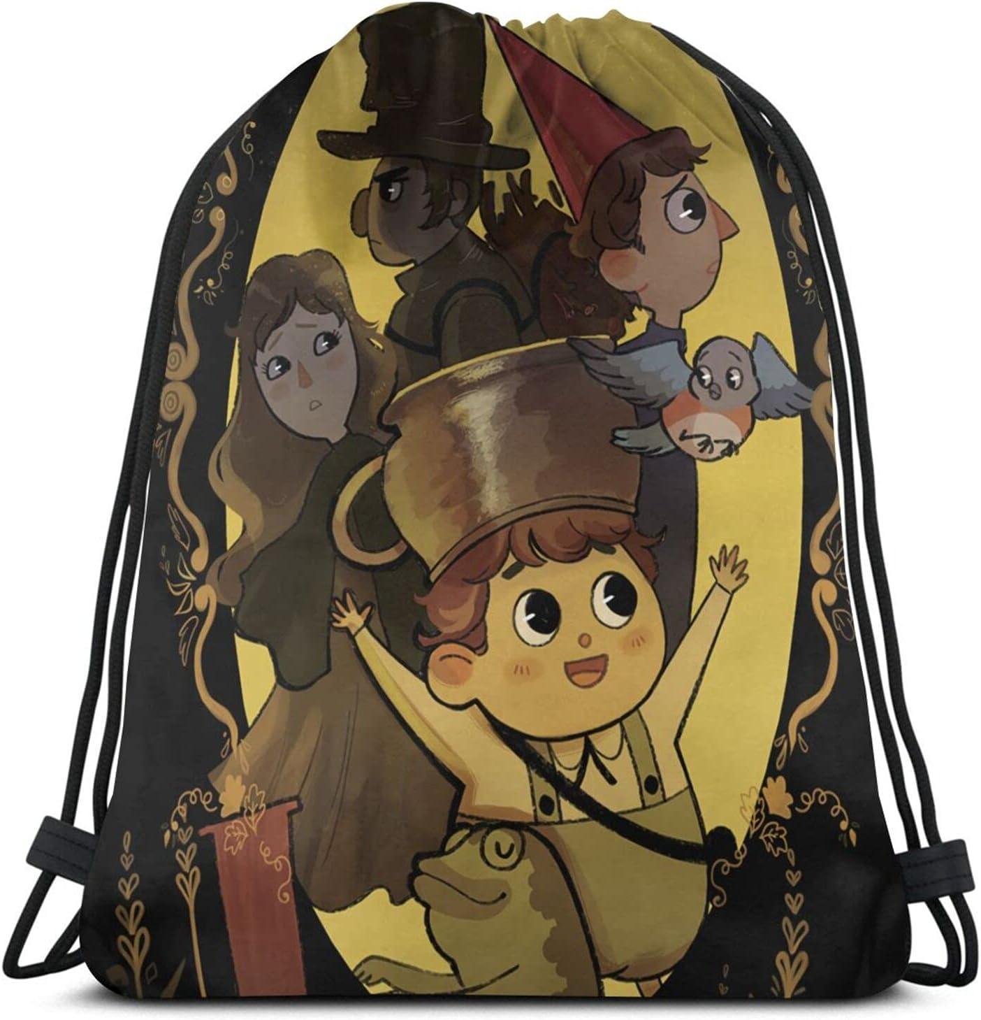 Over The Garden Wall Drawstring Backpack Print Sport Travel Gym Bundle Bag Storage Bag For Men Women