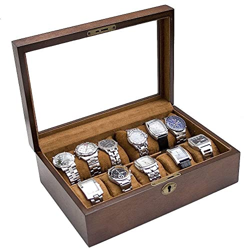 Personalized Rustic Wood Watch Box For Men Holds 10 Father S Day Gift Men S Gift Anniversary Gift Groomsmen Gift Caddy Bay Collection