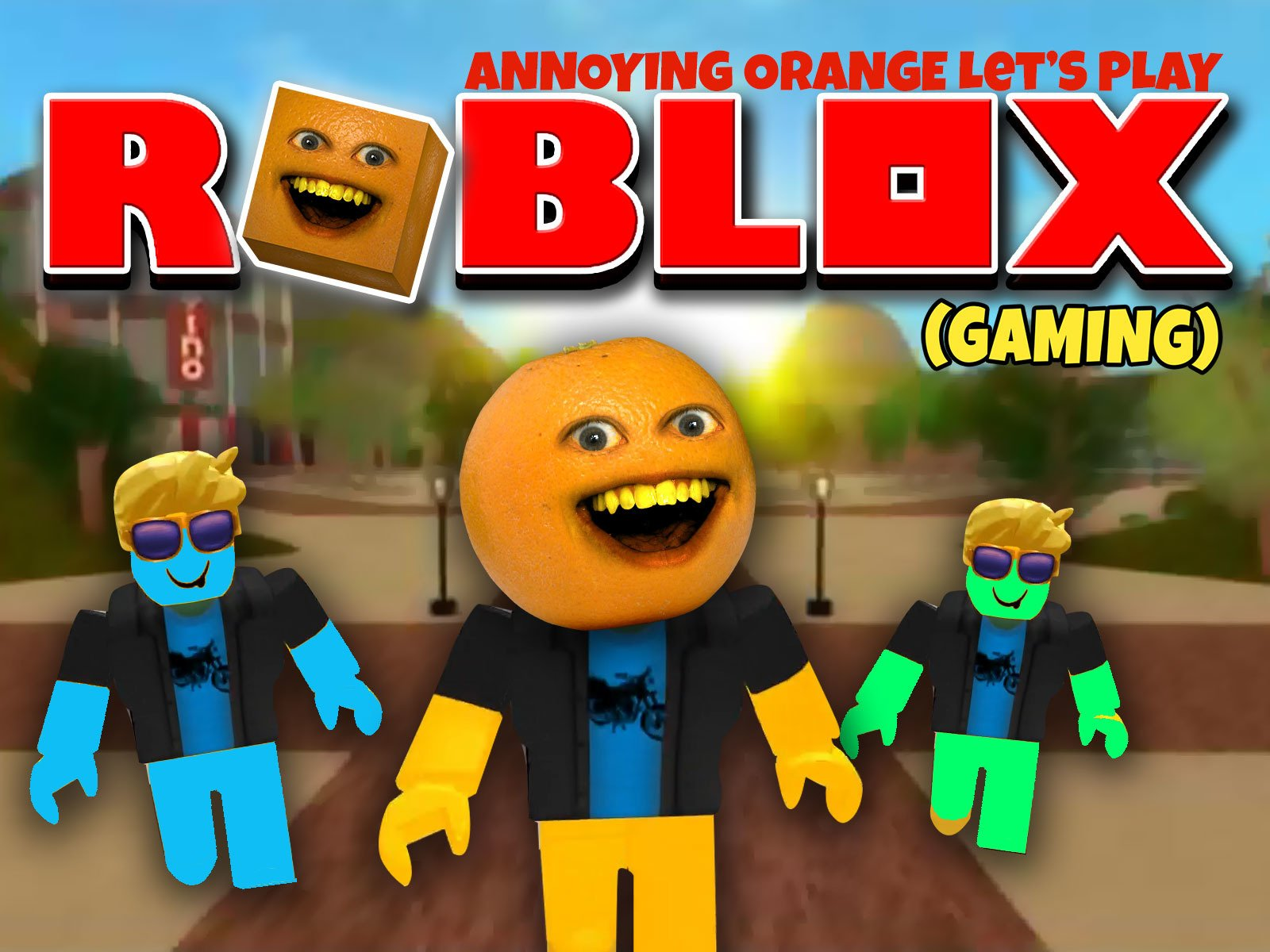 Amazoncom Watch Clip Annoying Orange Lets Play Roblox Prime