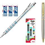 Pentel Graph Gear 1000 Automatic Drafting Pencil (0.7 mm Bundle (Pencil,Leads + Erasers))
