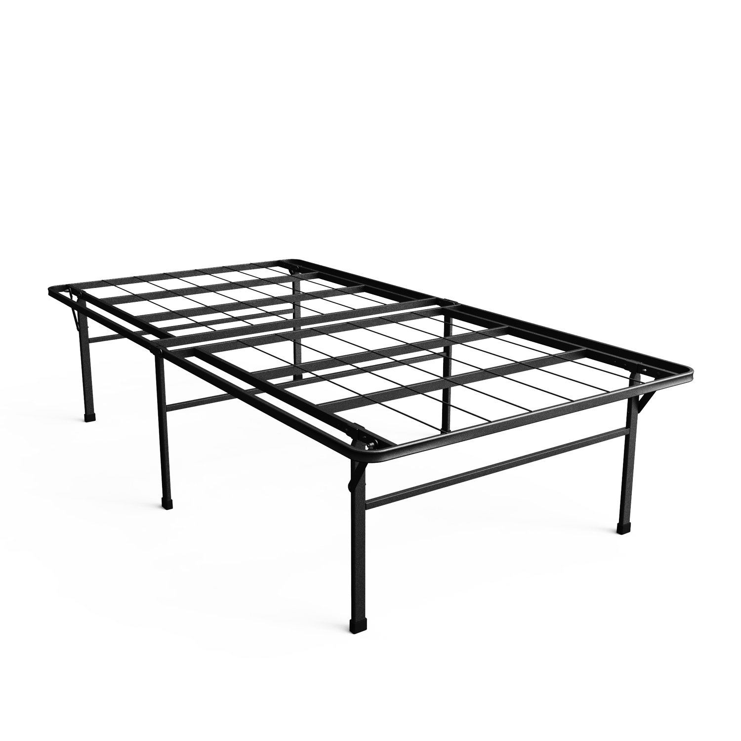 Zinus 18 Inch Premium SmartBase Mattress Foundation, 4 Extra Inches high for Under-bed Storage, Platform Bed Frame, Box Spring Replacement, Strong, Sturdy, Quiet Noise-Free, Twin
