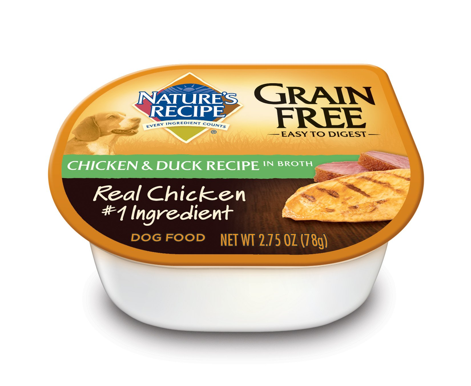 Nature's Recipe Grain Free Wet Dog Food, Chicken & Duck Recipe In Broth, 2.75-Ounce Cup (Pack of 24) by Nature's Recipe