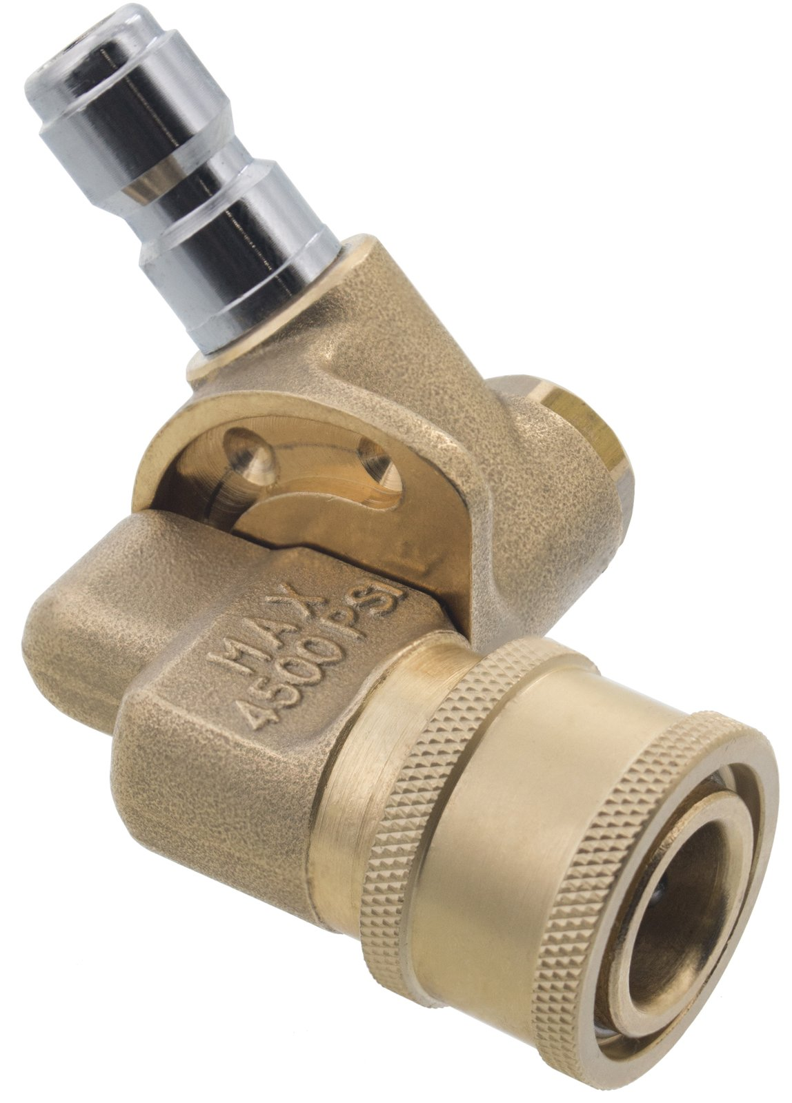 Erie Tools Pressure Washer 1/4'' 120 Degree Pivoting Quick Connect Brass Coupler 4500 PSI by Erie Tools