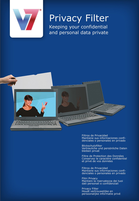 , Aspect Ratio 16:9 47 cm 18,5 Zoll V7 PS18.5W9A2-2E Privacy Filter f/ür Notebook