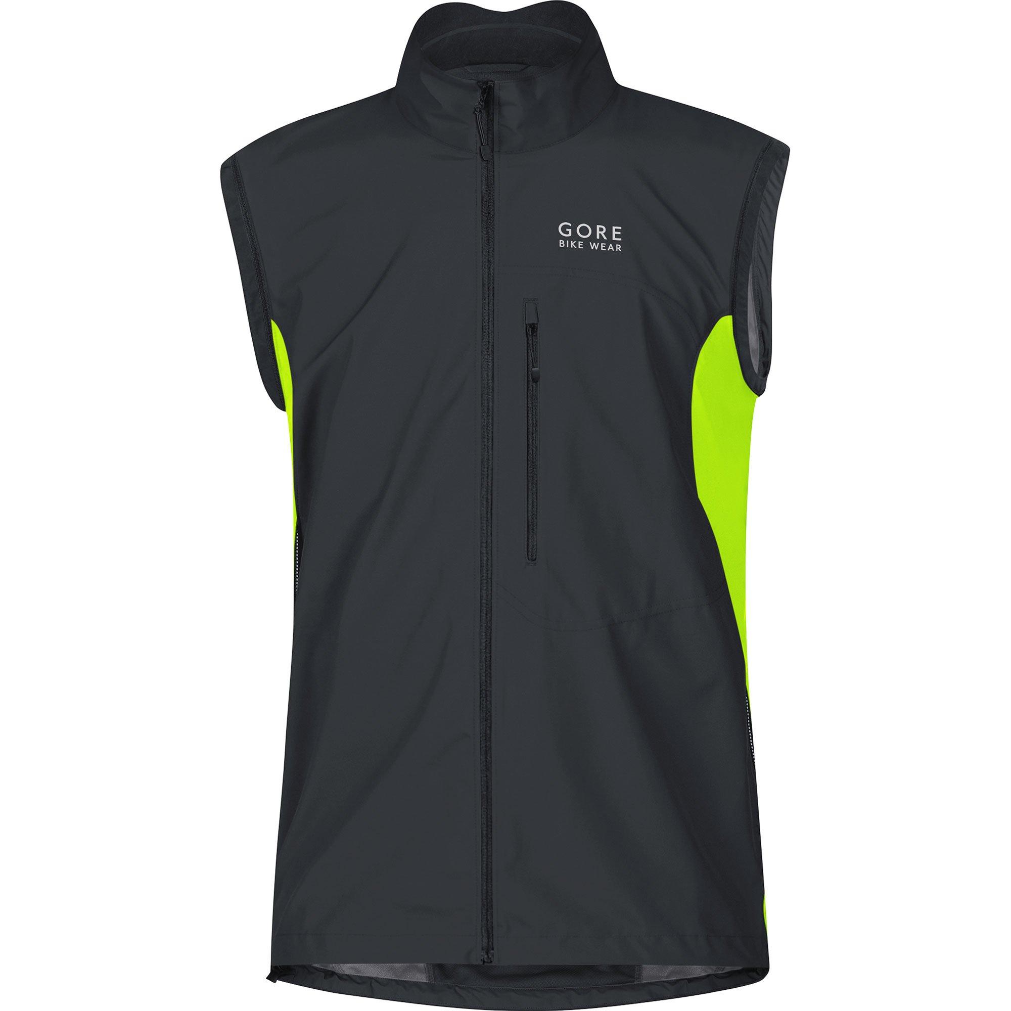Gore Bike WEAR Men's Cycling Jacket, Super Light, Gore Windstopper, Jacket, Size: S, Black/Neon Yellow, JWELMZ by GORE WEAR (Image #3)