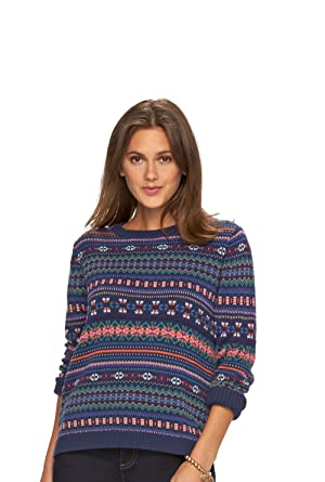 Chaps Women's Fairisle Crewneck Sweater at Amazon Women's Clothing ...