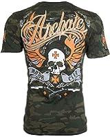 Archaic AFFLICTION Mens T-Shirt REBEL Military CAMO Tattoo Biker UFC