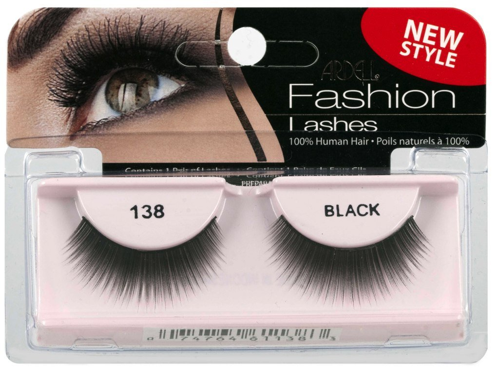 792168f95b2 Amazon.com : Ardell Fashion Lashes False Eyelashes - #138 Black (Pack of 4)  : Fake Eyelashes And Adhesives : Beauty