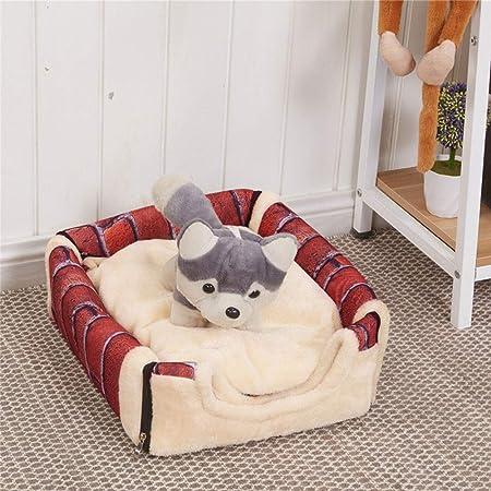Fossrn Mascota Perro Gato Cama Casa Cálido Estera Suave Ropa de Cama Cesta de Canasta Igloo Lavable Snug: Amazon.es: Deportes y aire libre