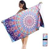 AtailorBird Toalla de Playa de Microfibra, 150 * 75cm Toalla de Piscina Grande Mandala Esterilla de Yoga, Seque…