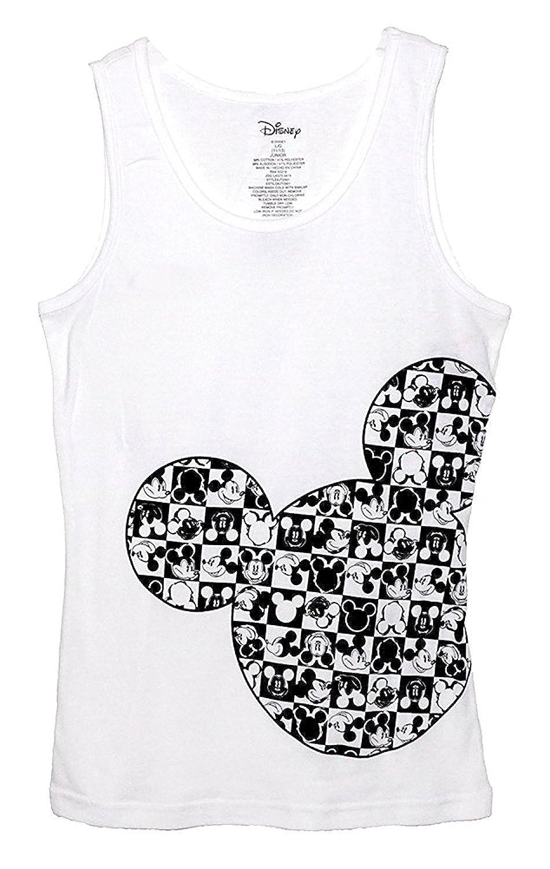 14b2d6918ecf93 Top1  Disney Classic Mickey Mouse Junior Women Pajama T Shirt Tank Top -  Checker Silhouette