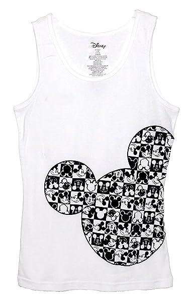 Clásico de Disney Mickey Mouse junior pijama T camiseta tirantes para mujer diseño de rombos de