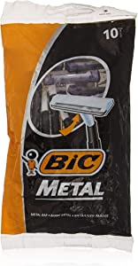 Bic Metal Disposable Men's Shaving Razors, 10-Count x 1 Pack