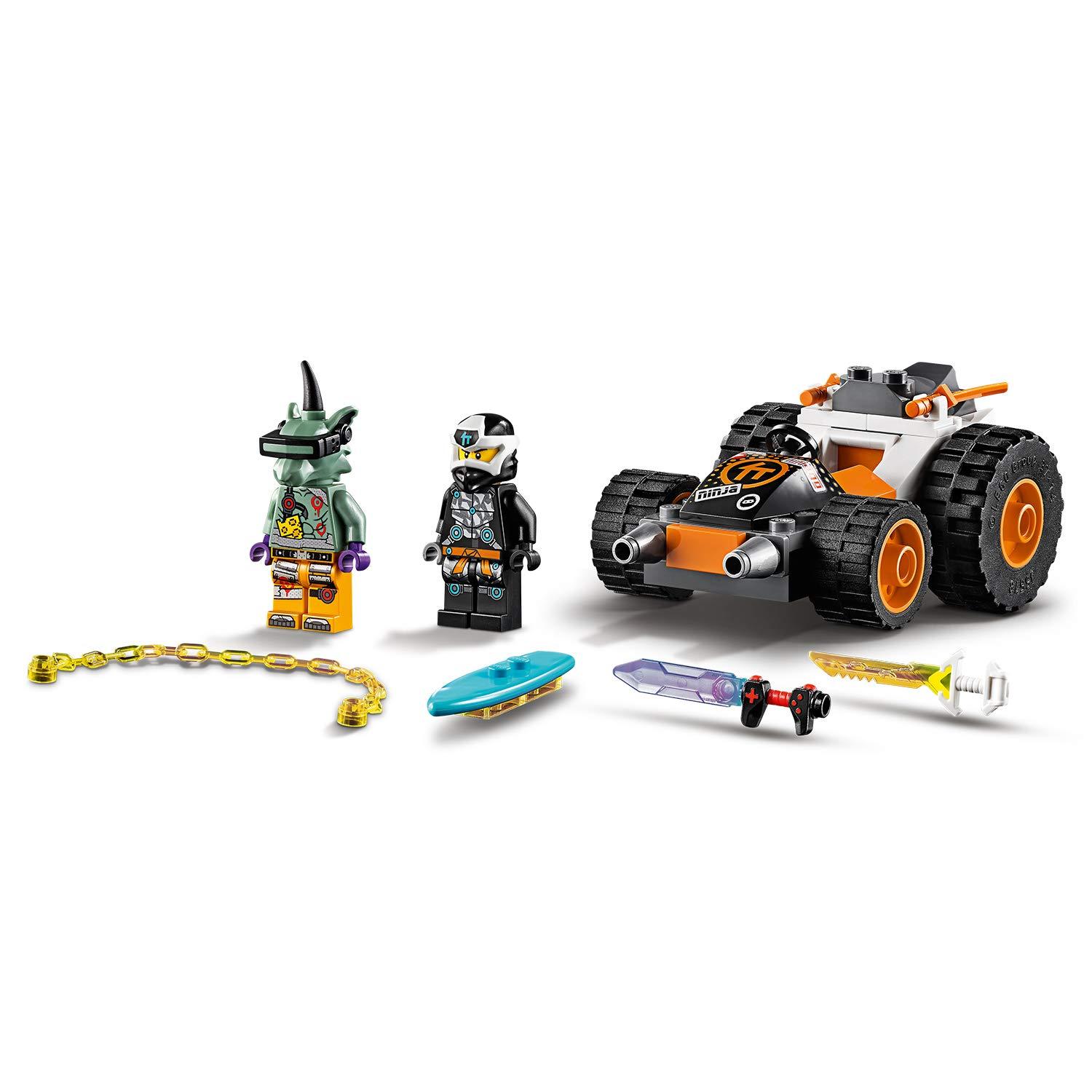 71706 LEGO Ninjago-Il Bolide Minifigure di digi Cole e Hausner per Costruire e Partire per Mille Avventure Set di Costruzioni per Bambini 4 Anni