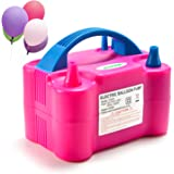 Electric Air Balloon Pump, AGPtEK Portable Dual Nozzle Inflator/Blower for Party Decoration - 110V 600W Rose Red