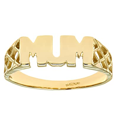 Naava 9ct Yelow Gold Mum Ring PR05783Y 7iH9X6