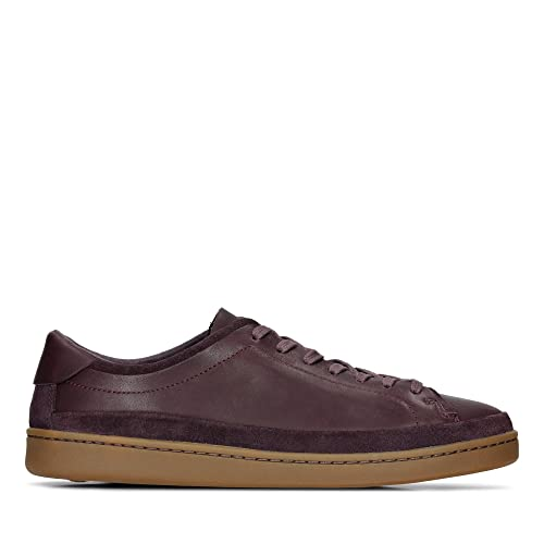 100% original buy real real quality Clarks Nathan Craft Leather Shoes in Aubergine Standard Fit ...