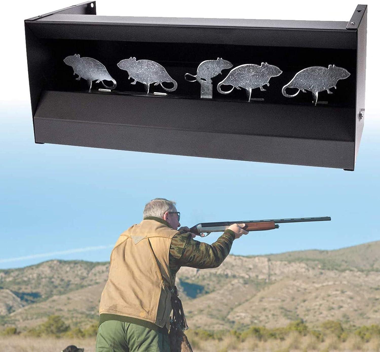 HNWTKJ Trampa de Perdigones Magnética, Rifle de Aire/Objetivo de Tiro Airsoft, para Pistola de Aire y Rifle, Objetivo Magnético con Mecanismo de Reinicio