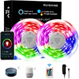 Led Light Strip 40 Ft WiFi, Smart App Controlled 360pcs RGB Light Strip Alexa, Led Rope Light Sync to Music with APP…
