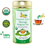 Organic MORINGA ORIGINAL Tea (Loose Leaf Tea). USDA Certified Organic. Rich in Antioxidants and Daily Needed Essential Nutrients. No Artificial Flavors or Preservatives. All Natural!