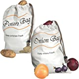 Miles Kimball Potato & Onion Sprout-Free Vegetable Storage Bags - White
