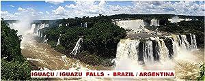 PANORAMA FRIDGE MAGNET - IGUACU IGUAZU FALLS BRAZIL ARGENTINA 5 x 2 inches