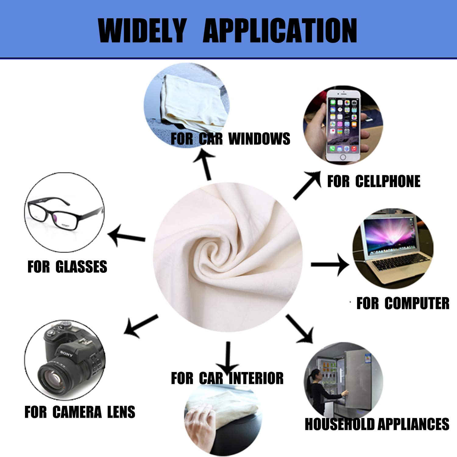 HIDMD Car Drying Chamois Towles Chamois Leather Cloth Large Natural Leather Fast Drying Car Cleaning Cloths Washing Shammy Absorbent 60CM X 90CM