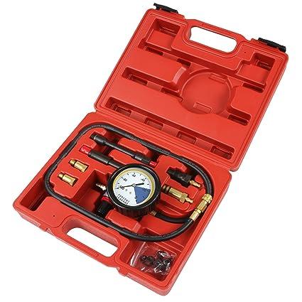 Timbertech - Medidor de presión para motores de coche a gasolina y diesel – incluye adaptadores