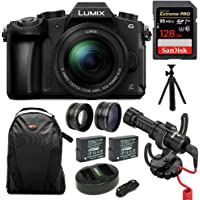 Panasonic LUMIX G85MK 4K Mirrorless Interchangeable Lens Camera Kit, 12-60mm Lens w/Rode Video Micro + 128GB